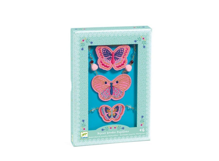 Charms Hairbrushes - Embroidered Jewels Butterflies