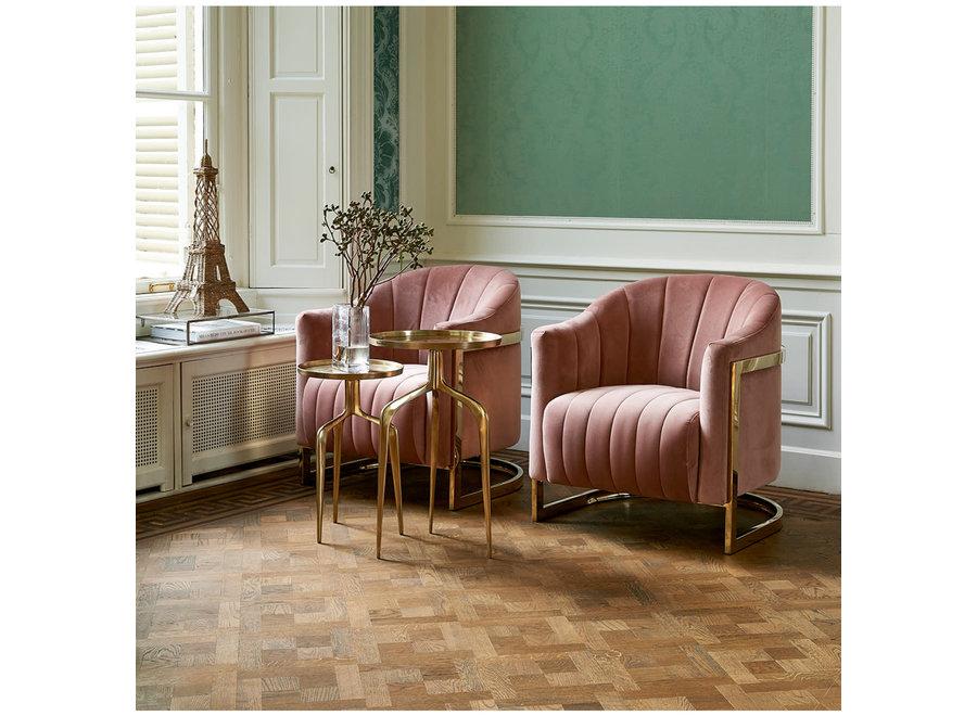 Elysee Armchair, velvet, blush