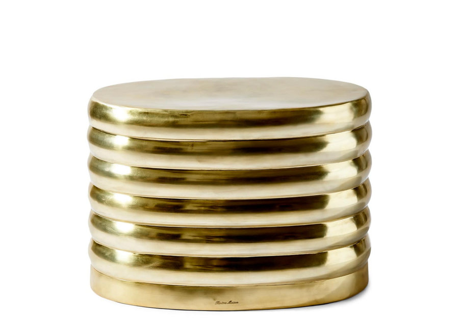 Times Square Oval Pouf gold
