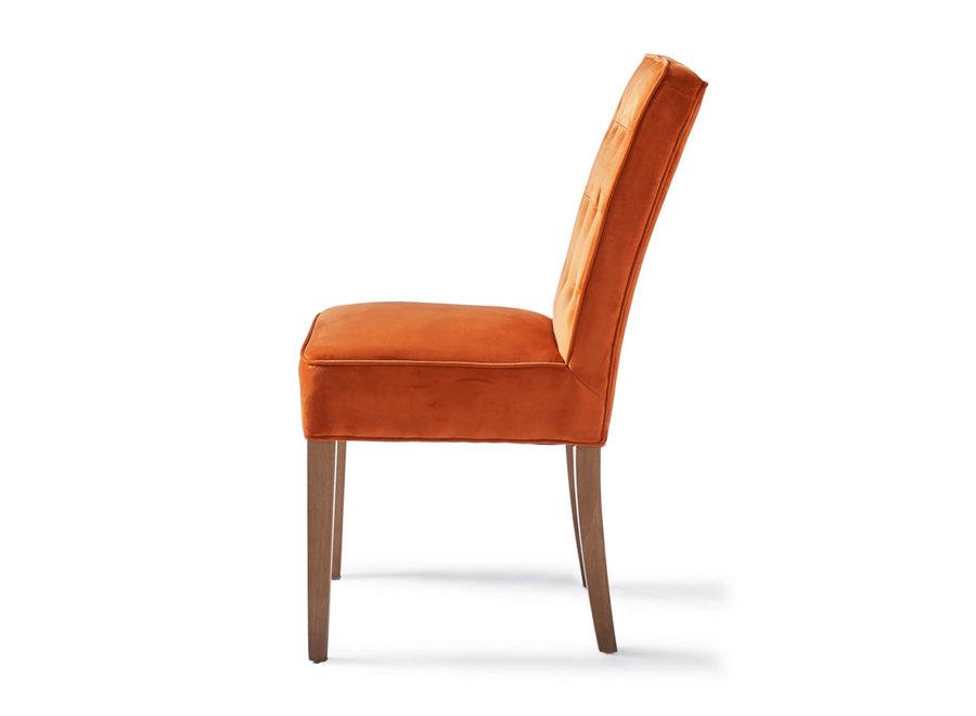 Cape Breton Dining Chair Velv Pumpk
