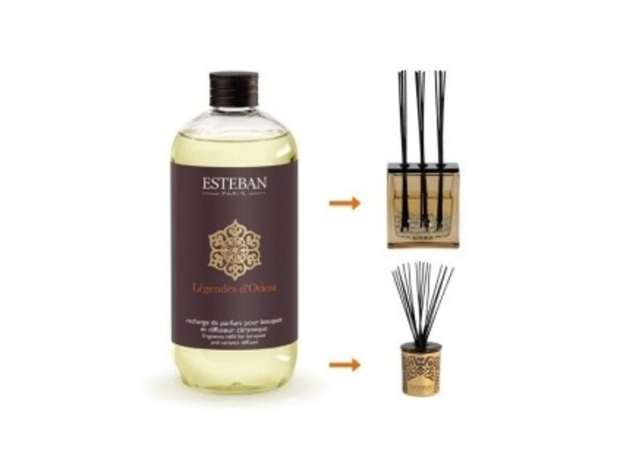Fragrance Refill For Bouquet And Ceramic Diffuser 500 Ml Legendes D'Orient
