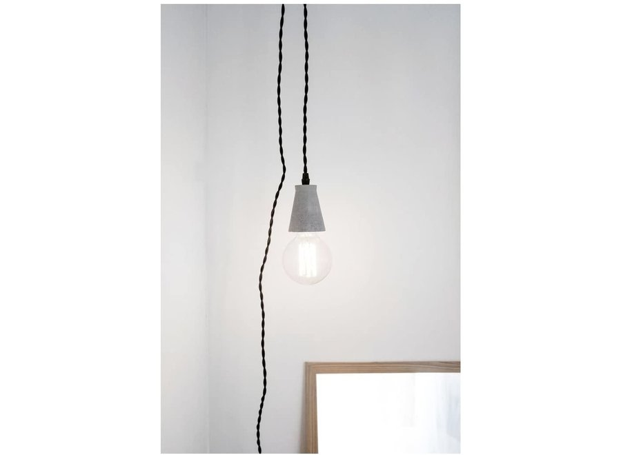 Concrete Pendant Light In Grey Or Sand - Assorted - Dia5.5X12 cm