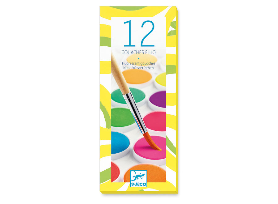 12 Color Cakes - Neon - For Older Children