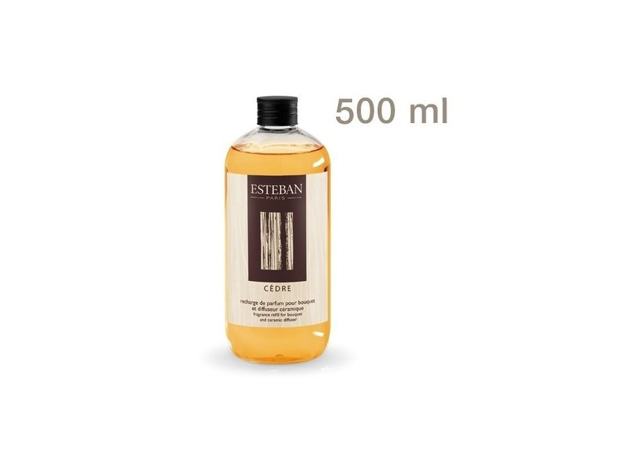 Fragrance Refill For Bouquet And Ceramic Diffuser 500 Ml Cedre