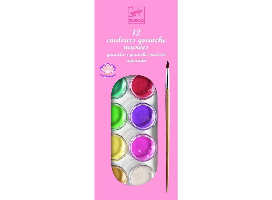12 Color Cakes - Pearly - For Older Children