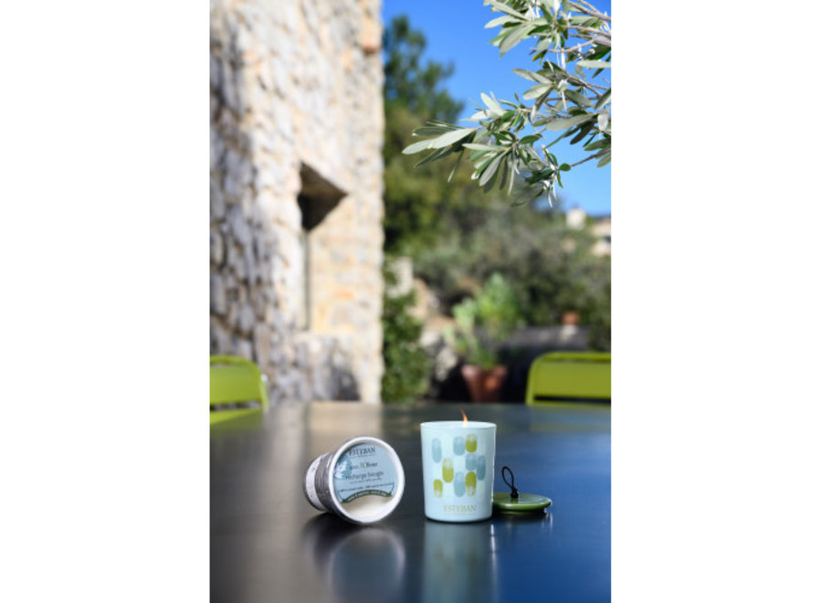 REFILLABLE SCENTED DECORATIVE CANDLE SOUS L OLIVIER