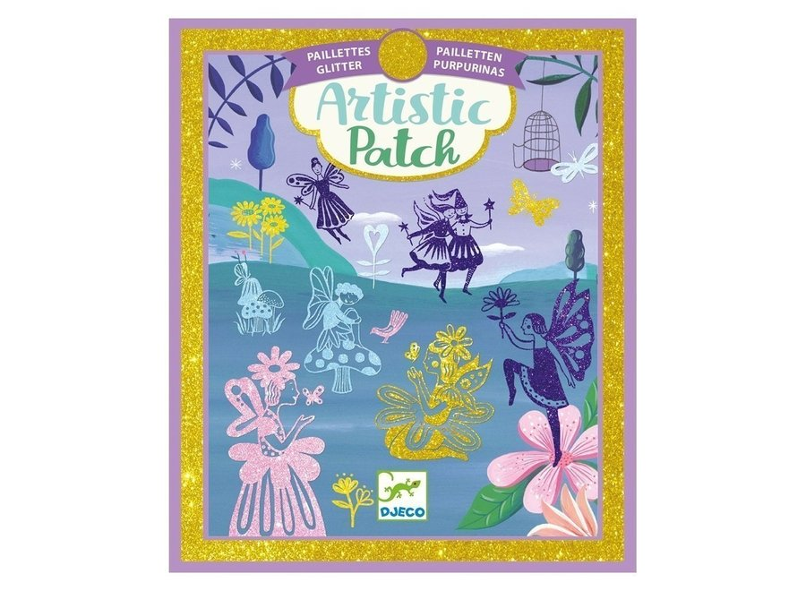 Artistic Patch Glitter Collages - Fairyland