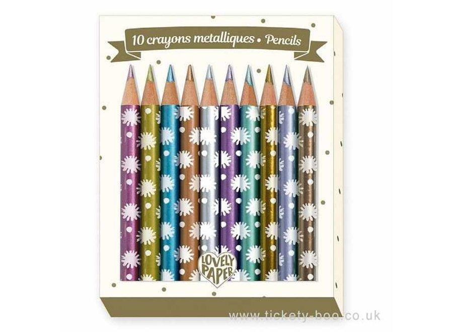 10 Chichi Mini Metalic Pencils