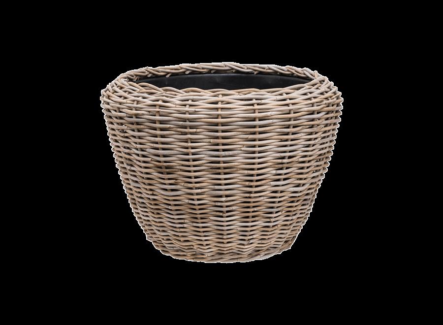 Drypot Round Rattan D80 H62Cm