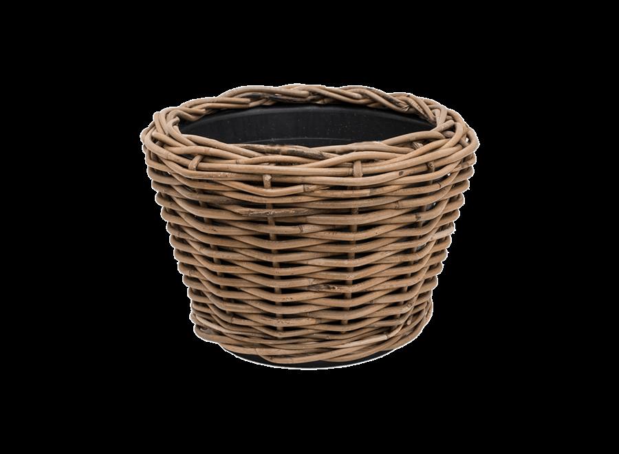 Drypot Round Rattan D32H23Cm