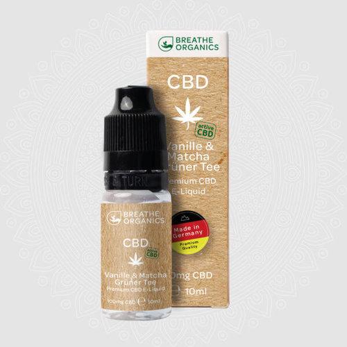 Breathe Organics Active Premium CBD Liquid Vanille & Matcha Grüner Tee by Breathe Organics