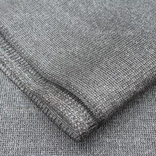 Schaduwdoek 96% granite 1 meter breed