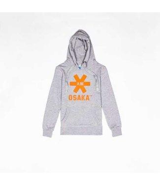 Osaka Deshi Hoodie Orange Star Grey Melange