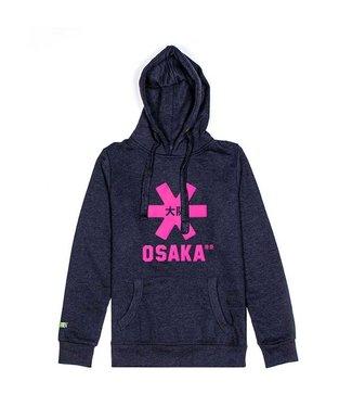Osaka Deshi Hoodie Pink Star Navy Melange