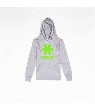 Osaka Deshi Hoodie Green Star Grey Melange