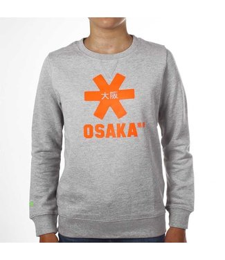 Osaka Deshi Sweater Orange Star Grey Melange