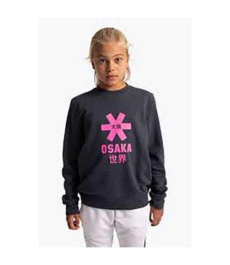 Osaka Deshi Sweater Pink Star Navy Melange