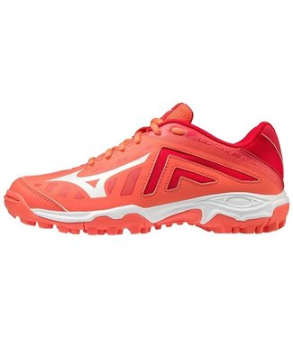 Mizuno Wave Lynx Junior Hockeyschoen Coral