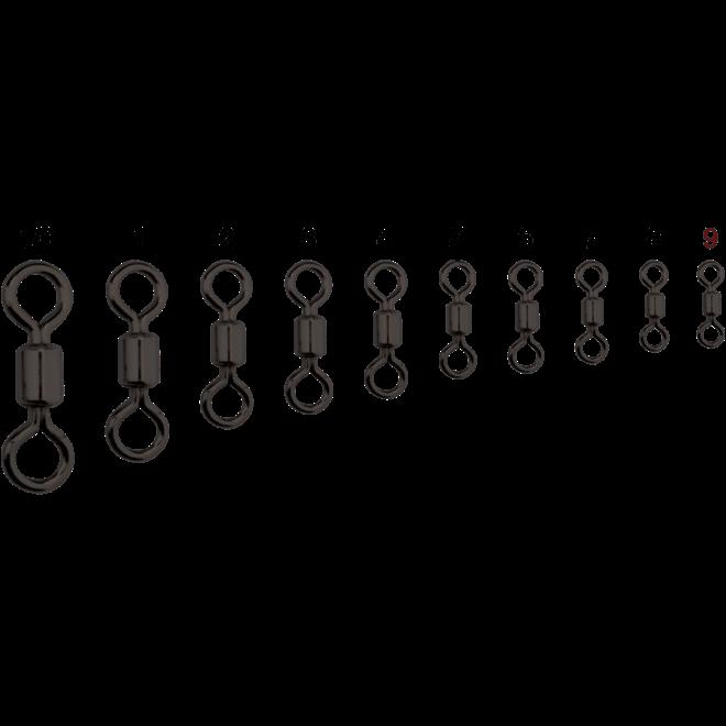 Centro Brass Rolling Swivel (Nickel Black)