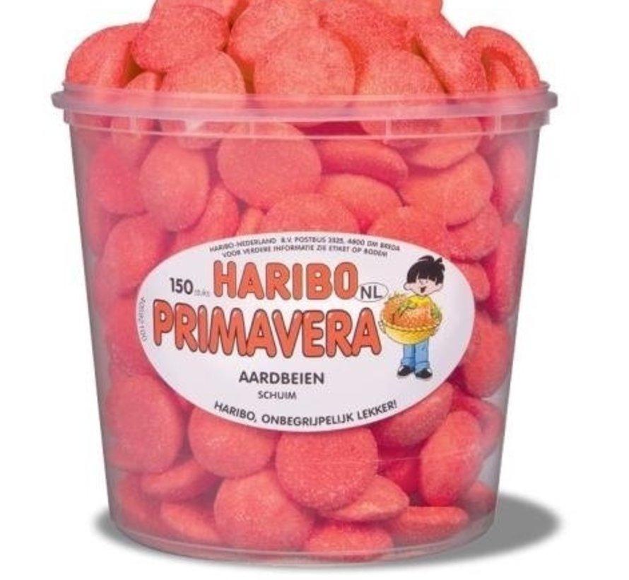 Schuim Aardbeien Haribo Silo 150 Stuks