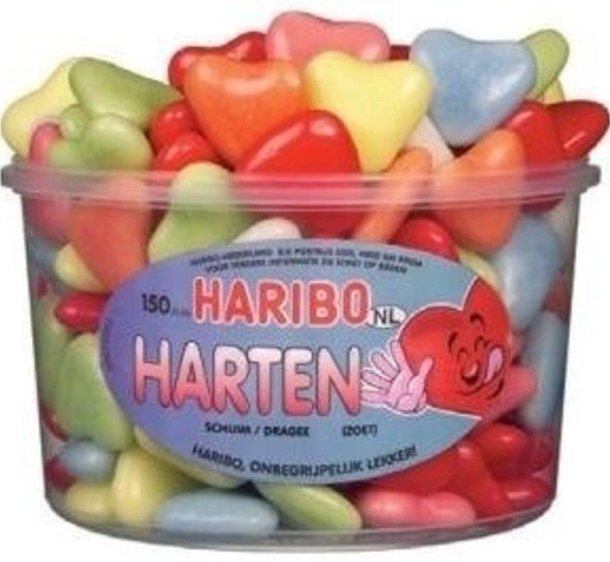 Valentijn Schuim Harten Haribo Silo 150 Stuks