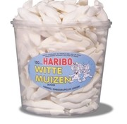 Haribo Witte Muizen Haribo Silo 150 Stuks