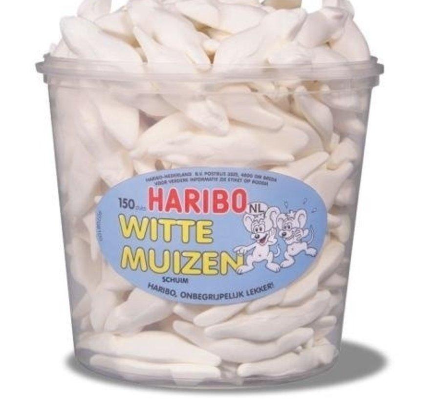 Witte Muizen Haribo Silo 150 Stuks