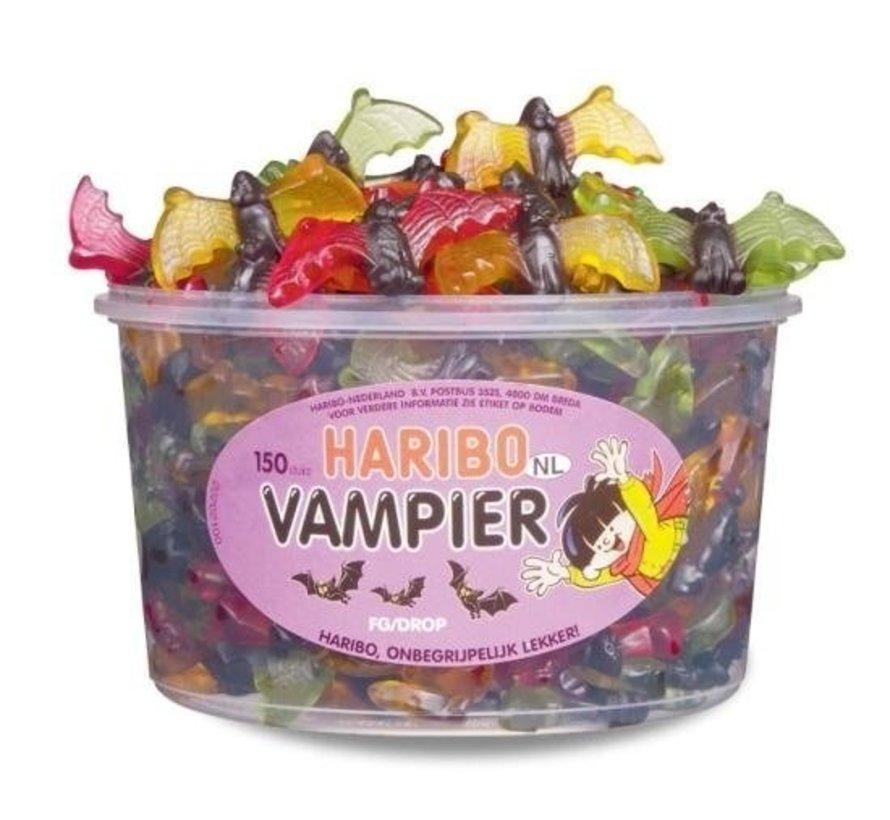 Haribo Halloween  Vampier Vleermuizen Haribo Silo 150 Stuks