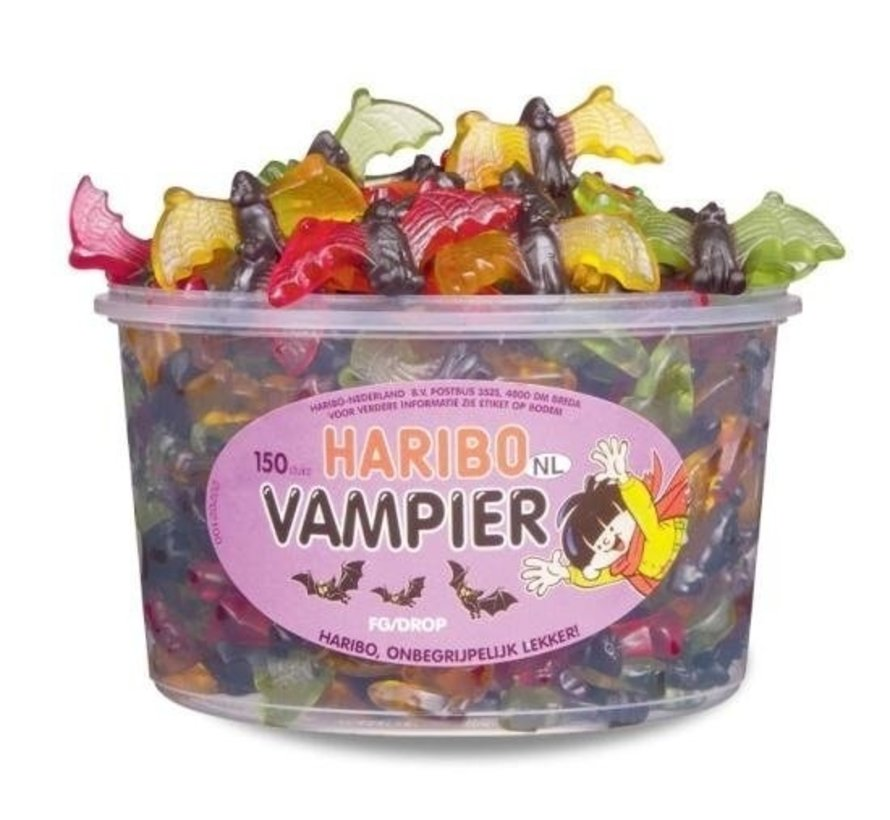 Haribo Vampier Vleermuizen Haribo Silo 150 Stuks