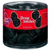 Red Band Drop Smiles Groot - Silo 100 Stuks