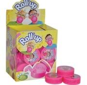 Lutti Lutti  Roll Up Kauwgom Tutti Frutti Roze- Doos 24 Stuks