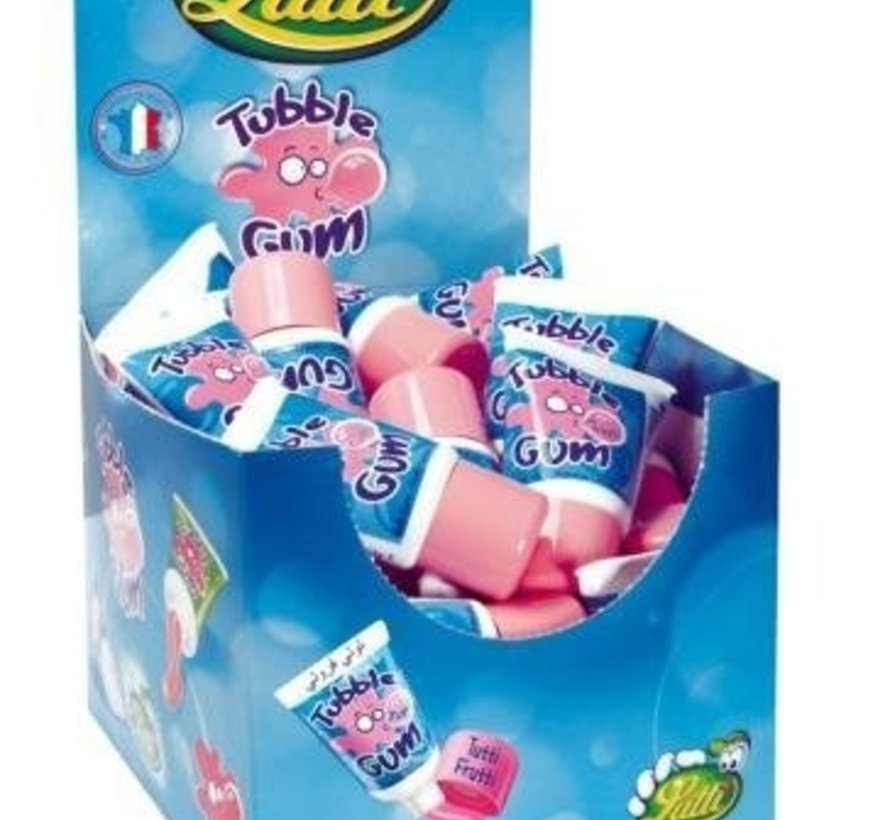 Kauwgom Tube Gum Tutti Frutti- Doos 36 Stuks