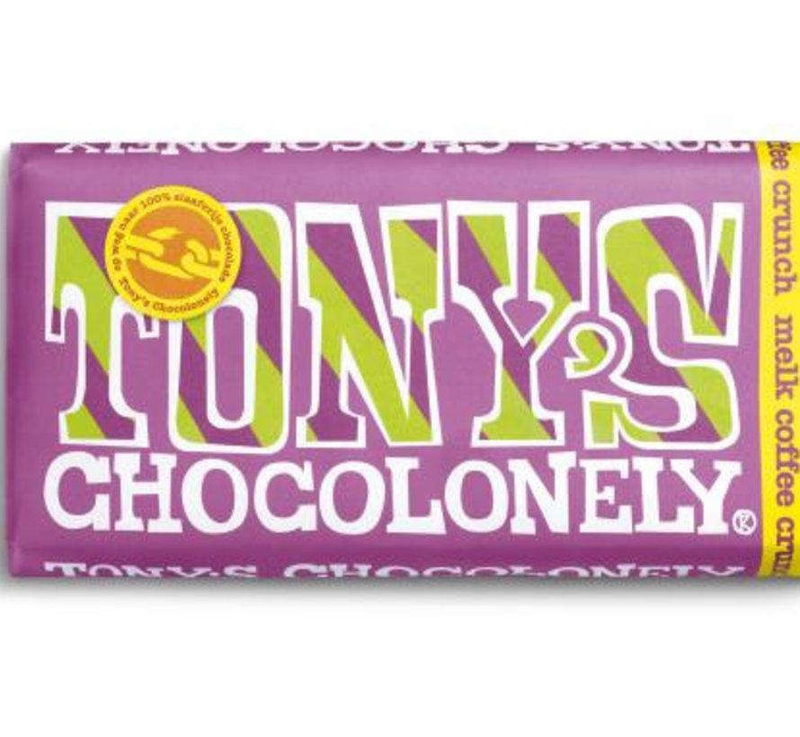 Tony'S Chocolonely Coffee Crunch Doos 15 Stuks