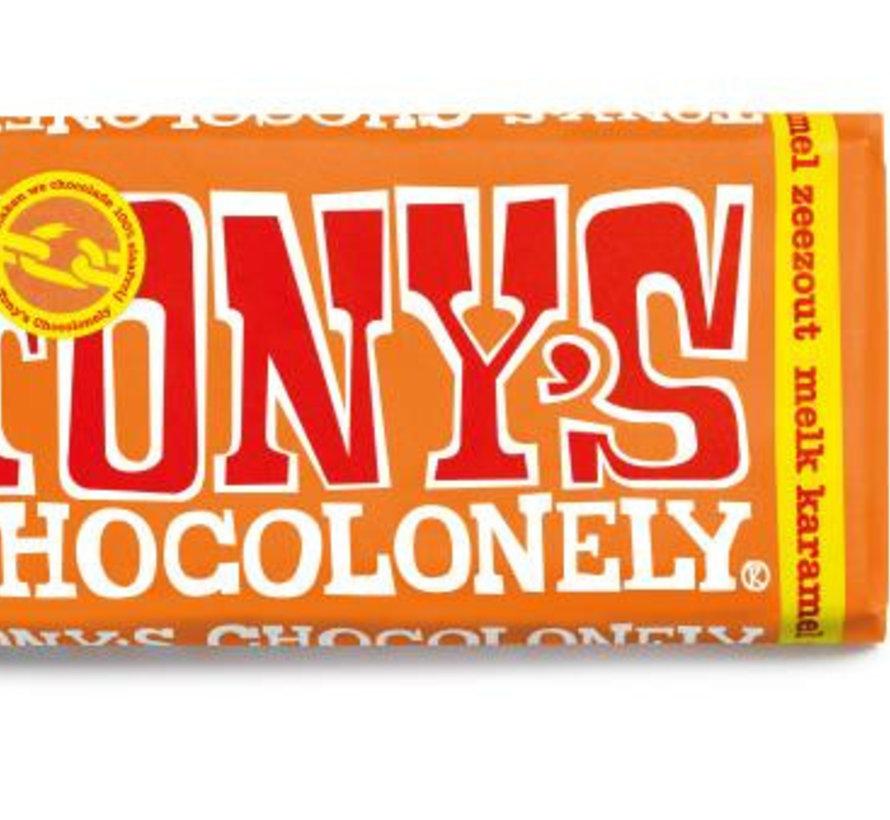 Tony'S Chocolonely Zeezout Caramel Doos 15 Stuks