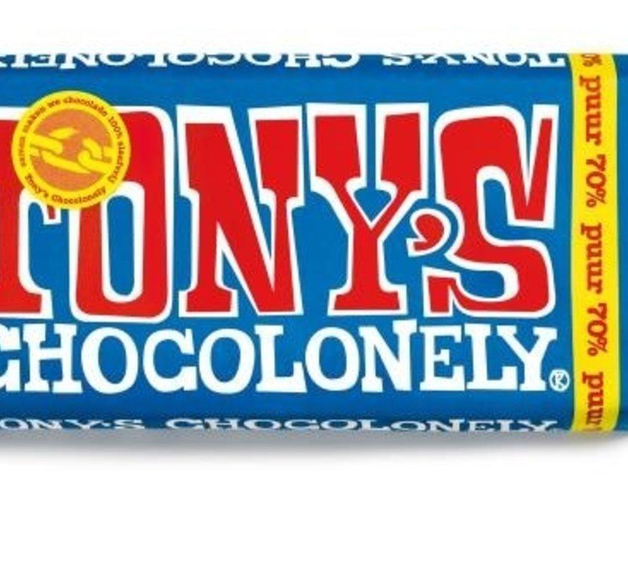 Tony'S Chocolonely Puur 70%  Doos 15 Stuks