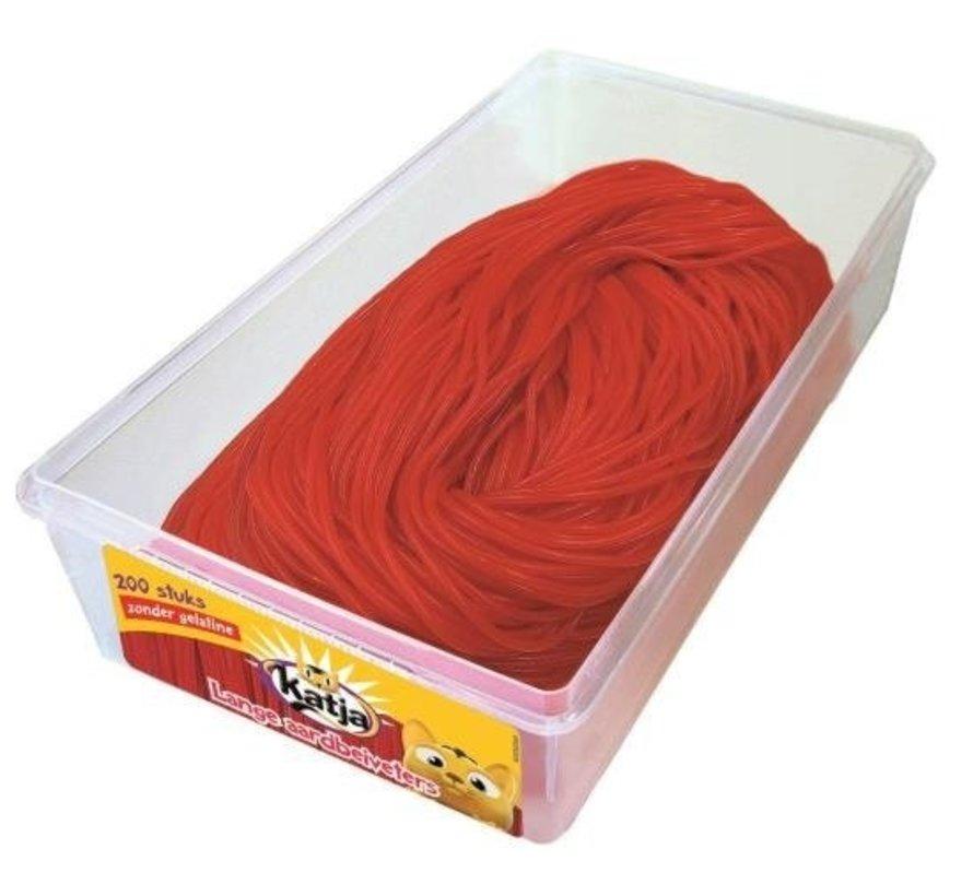 Rode Aardbei Veters Veggie - Silo 200 Stuks