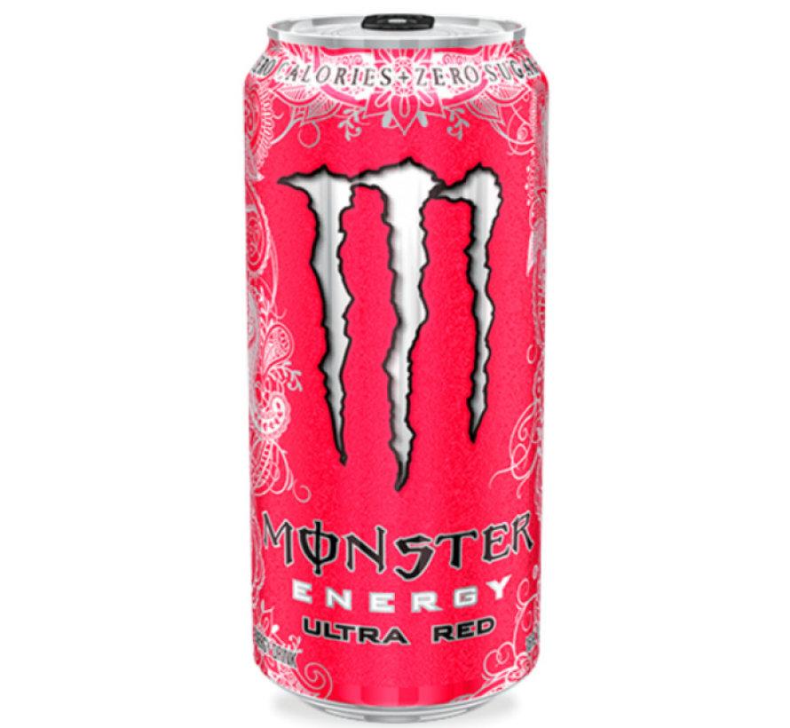 Monster Ultra Red Zero Tray 12x500ml