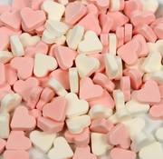 Baby Roze Wit Mini Vruchten hartjes