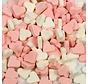 Hartjes Mini Roze Wit Vruchtenhartjes