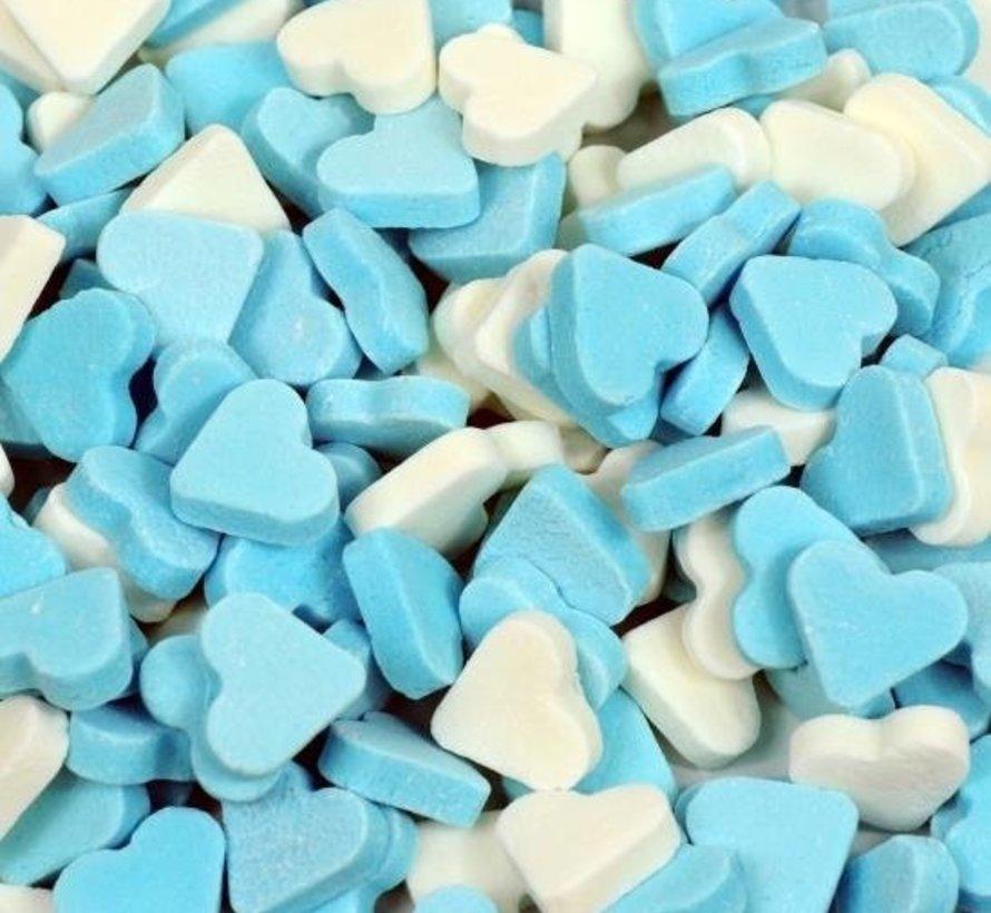 Hartjes Mini Blauw Wit Vruchtenhartjes