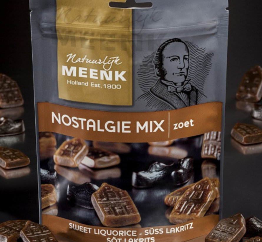 Drop Nostalgie Mix Zoet Gelatine Vrij