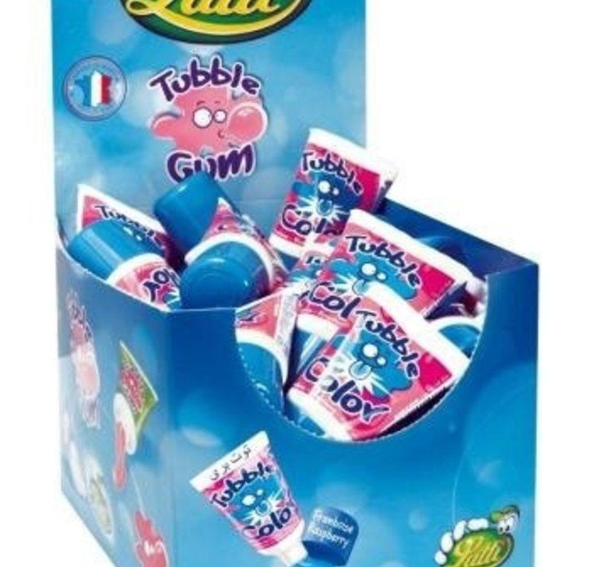 Lutti Kauwgom Tube Gum Blauw Tongue Paint - Doos 36 Stuks