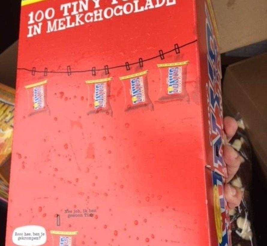 Tiny Tony 'S Chocolonely Melk -Doos 100 Stuks