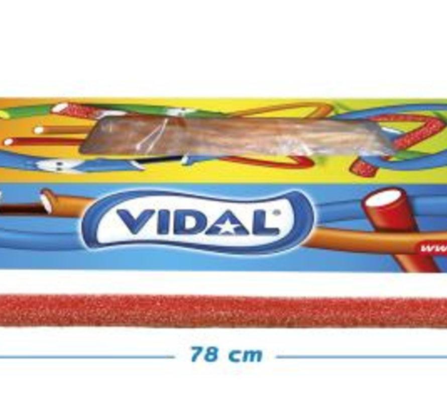 Maxi Kabels zure aardbei Sour Strawberry -Doos 80 Stuks Vidal