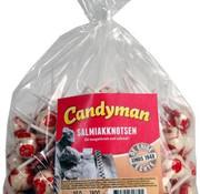 CandyMan Salmiak Knotsen -150 Stuks