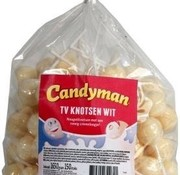 CandyMan Tv Knotsen Wit Lollies - 150 Stuks