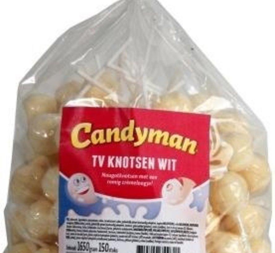 Tv Knotsen Wit Lollies - 150 Stuks
