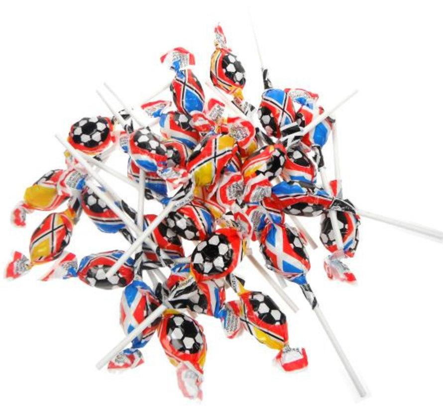 Voetbal Mini Lollies -Bulk 1.200 Stuks