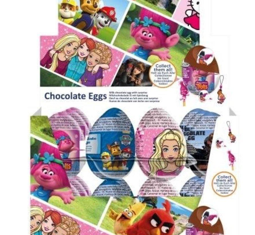 Verrassing Chocolade Ei License Mix Doos 24 Stuks