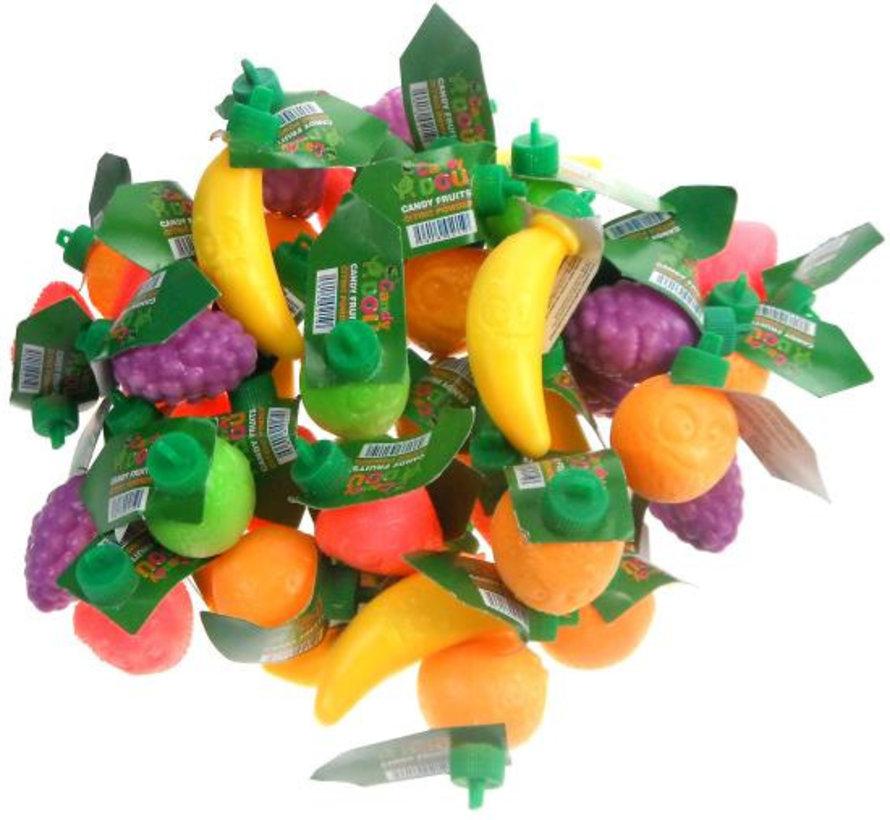 Plastic Fruit Gev.Met Zuur -100 Stuks